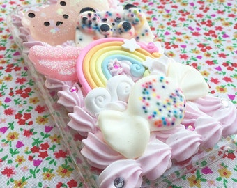 Decoden Kawaii Duo Pink and White Whip Cream Resin iPhone 6/6s Phone Case