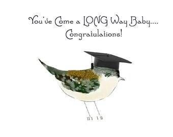 Graduation Card~Custom Graduation Card~Bird Lover Card~Chickadee Card for Grad~Bird Card for Grad~Unique Grad Card~Handmade Bird Card
