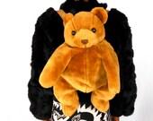 90s Backpack/ Kawaii Backpack/ 90s Club Kid/ Pastel Grunge/ Furry Backpack/ Plush Backpack/ 90s Purse/ Teddy Bear Backpack/ Mini Backpack
