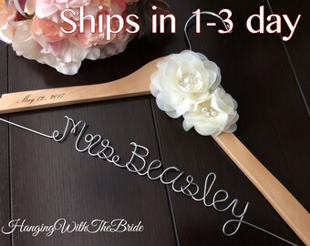 Personalized Wedding hanger, custom wire hanger, bridal hanger, bride gift, bridesmaids gift, custom made hanger