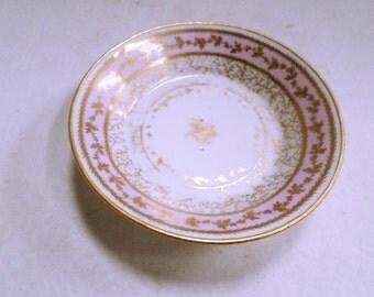 Exceptional Antique Limoges Paris Comte D'Artois Saucer circa 1780 v685