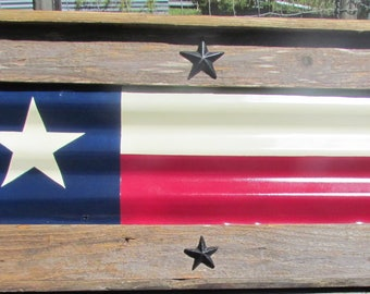 TEXAS flag framed, rustic Texas tin flag