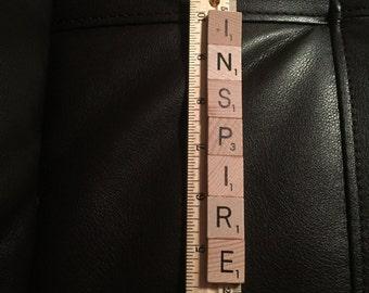 Ornament made from Scrabble Tile Inspire Ornament Teacher gift