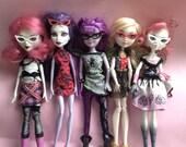 Cat Eye Glasses for Dolls, Barbie My Scene Monster High Mystixx Bratz Liv EAH, 3 pairs, fashion doll accessories, glasses, egst, Greece