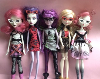 Cat Eye Glasses for Dolls, Barbie My Scene Monster High Mystixx Bratz Liv EAH, 3 pairs, fashion doll accessories, glasses, Greece