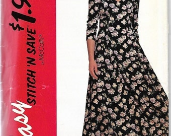 McCall's Stitch 'N Save 6271 Misses Princess Seamed Dress Pattern, Size 8-12, UNCUT
