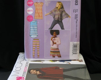NOS 8 Girl's Patterns in sizes 8 1/2 - 16 1/2, Lot of eight, Butterick 5022, McCall's 6501, 5698, 5922, 6693, Simplicity 2749, 4106, 3904