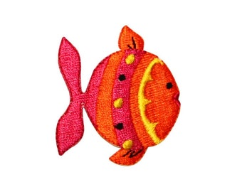 ID 0186 Colorful Tropical Fish Patch Underwater Aquarium Animal Iron-On Applique