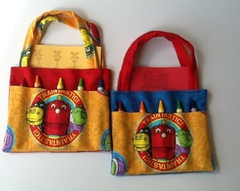 Chuggington Children's Crayon Bag and Customized Paper, Birthday Party Favor