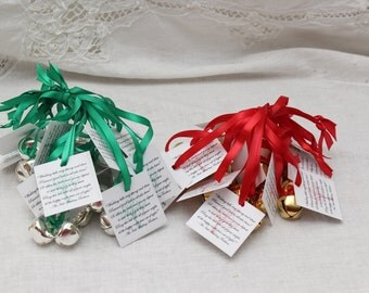 Wedding Kissing Bells Irish Blessing Bell Favor Personalized Seed Envelope Unique