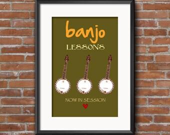 8X10 Banjo Prints
