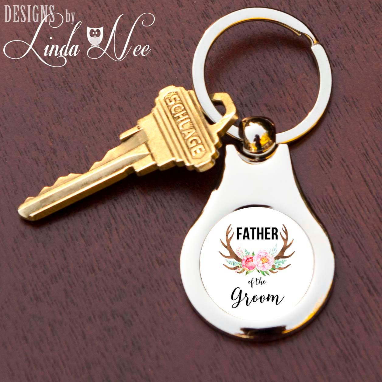 Father of the Groom Keychain Wedding Favor for Dad FOG Gift