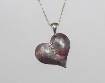 Broken & Mended Heart Pendant - unique handmade necklace