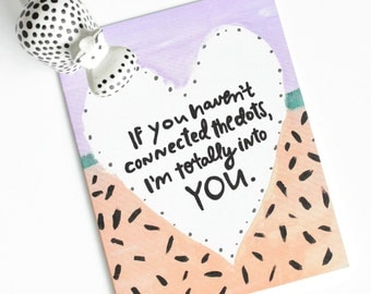 Valentines day card, Secret Admirer Card, Confessing Love, Love Card, Husband Card, Wife Card, Romantic Card, I'm totally Into you