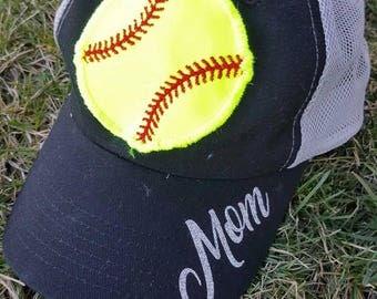 Softball Ball Trucker Hat
