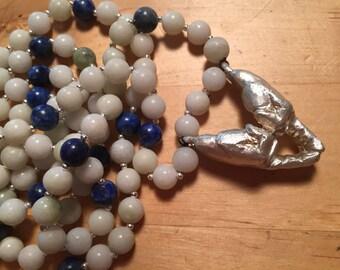 Shakti Mudra Mala with Jade and Lapis Lazuli