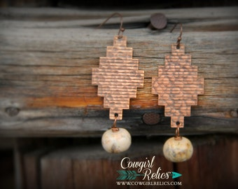 Sonoita Hammered Copper Southwest Earrings