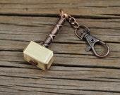 Mjolnir - Thor's hammer, hammer keychain, keyring hammer, mjolnir key fob, mjolnir pendant