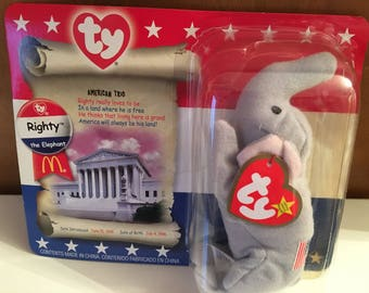 Right the Elephant Beanie Baby promotion by McDonalds.