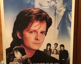 Movie Poster, Light of Day with Michael J. Fox.