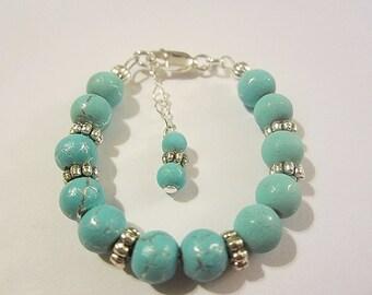 Newborn baby girls sterling silver filled bracelet