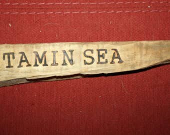 Hand made Wood Burned Driftwood Sign, Wall Hanging Reads Vitamin Sea, Beach Art, Home Decor, Cottage chic, Ready to Hang, Wall Art