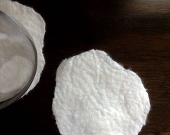 Pure White Wool Glass Coaster - Exquisite Cup Coasters, felted wool mats for cup/glass