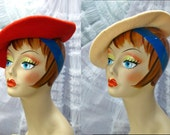 Two Wool Berets / Vtg 90s...