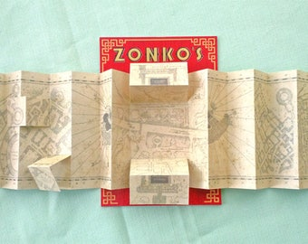 Miniature Marauders Map for blythe and 1/6 dolls - Hogwarts Harry Potter Zonko's