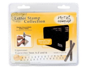 TYPEWRITER Uppercase 3mm Metal Complex Letter Stamp Collection