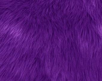 Fun Monkey Fur Purple 60 Inches Fabric by the Yard, 1 yard