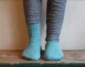 Women's Felted Wool Slippers, Wool slippers, Women's slipper sock