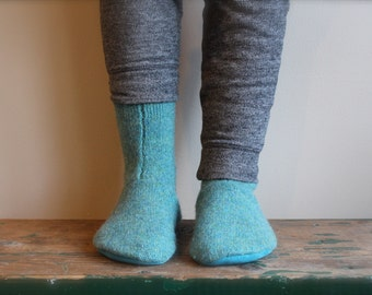 Women's Felted Wool Slippers, Wool slippers, Women's slipper sock