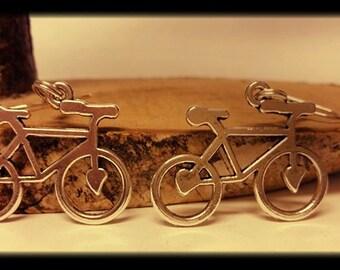 Earrings Bicycle heart
