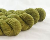 Hand Dyed Merino / Nylon Sock Yarn Khaki