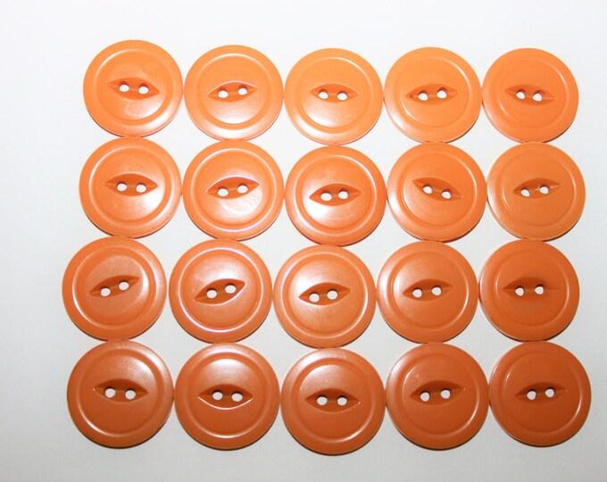 20 Matching Antique Bakelite / Catalin Buttons, Butterscotch Color