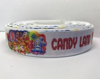 """7/8"""" CandyLand Grosgrain Ribbon"""