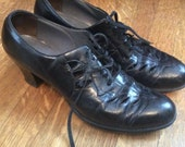 1940's Oxfords/ 1940's Oxfords with Heels / 1940's Fashion / Women's Size 8.5