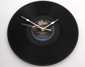 WHAM Vinyl Record CLOCK made from a recycled LP, Make It Big, black and blue, Retro gift for men, women, George Michael fans, 80s fun gift