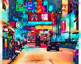 Watercolor Print - Tsim Sha Tsui