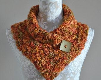 Hand Crocheted Cowl - Warm Wool Neckwarmer - Pullover Cowl - Autumn Neckwarmer - Light weight pullover