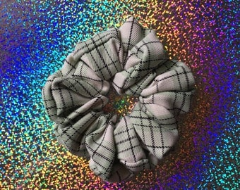 Mint SCHOOL GIRL Plaid Hair Scrunchie