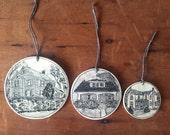 Custom Round House Ornament
