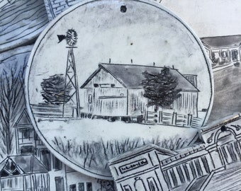 Custom House Ornament - Porcelain - Round - Housewarming Gift - Closing Gift - House Portrait