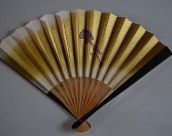 Hand fan, small, bamboo and paper, Japanese tea ceremony sensu
