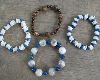 Shell and Stone bracelets