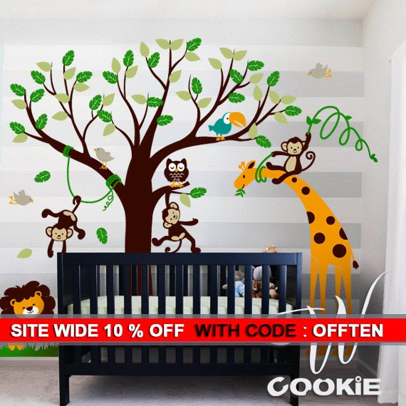Safari Land - Nursery, Kids Wall Decal