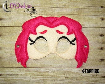 Starfire * Teen Titians Go Inspired Childrens Dress Up Mask