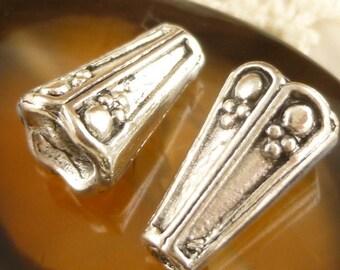 Rustic, Swirl Cone Bead Cap, Antique Silver (SF6)