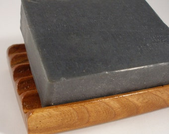 Charcoal Soap - Natural Soap - Liquorice & Vetiver: All Natural Handmade Cold Process Soap with Shea Butter - 120g/4.25oz